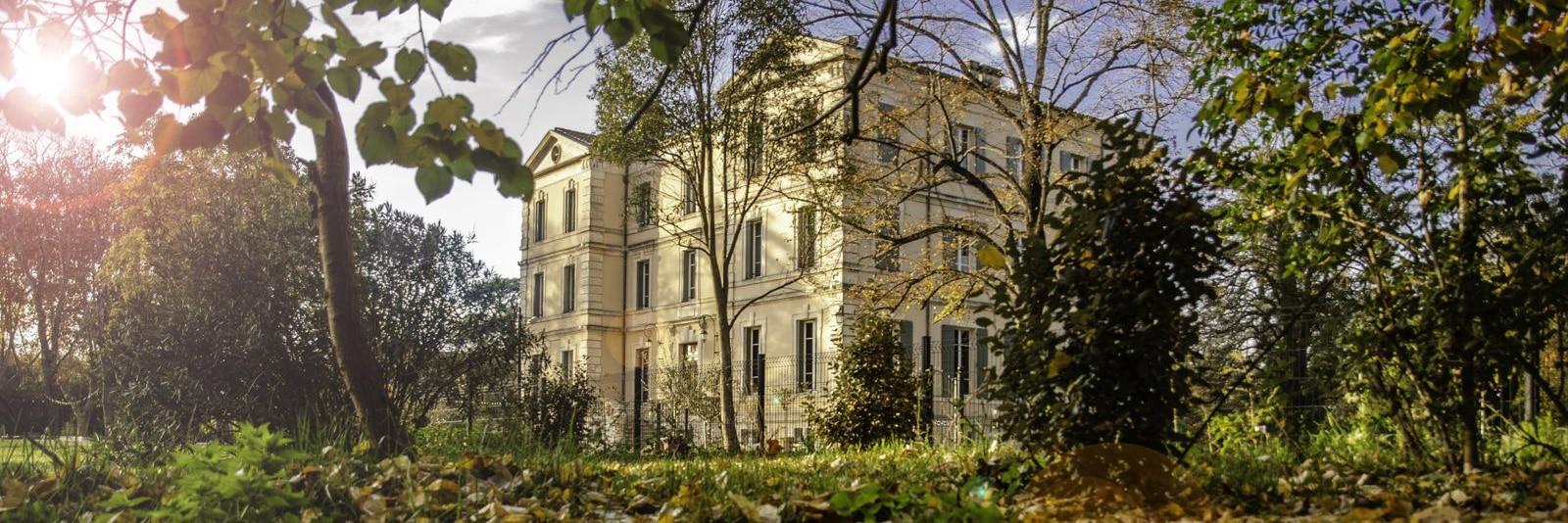 Hotel Château de Montcaud in autumn, Provence France