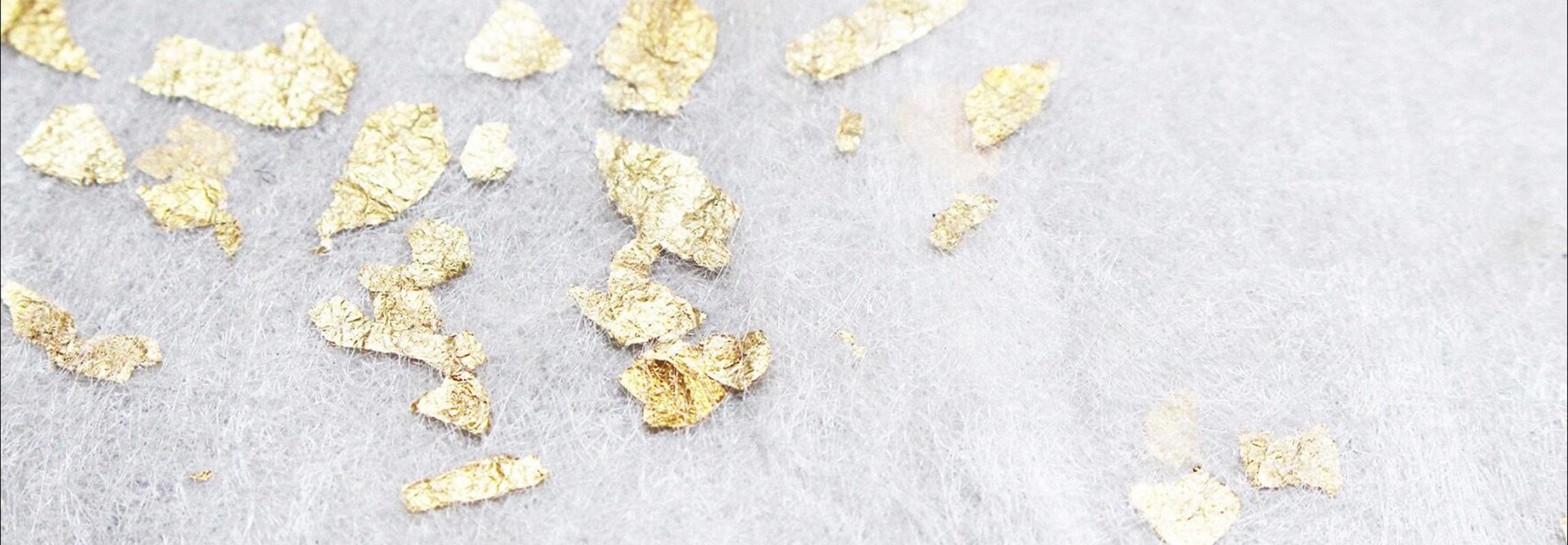 Sericyneseide mit Goldinklusionen