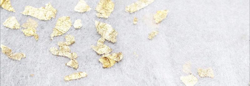 La soie Sericyne avec des inclusions d'or