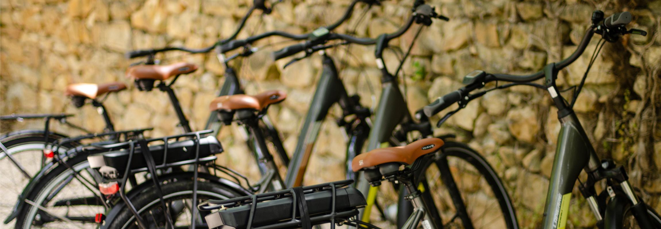 Bikes at Château de Montcaud