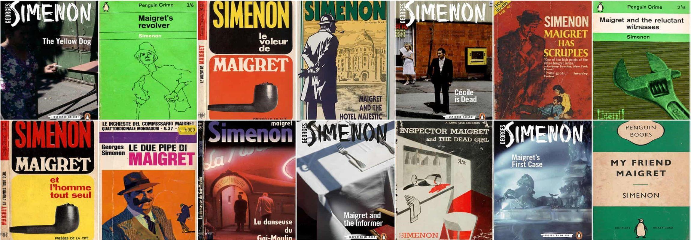 Die Werke Georges Simenon im Château de Montcaud, Hotel Provence Südfrankreich