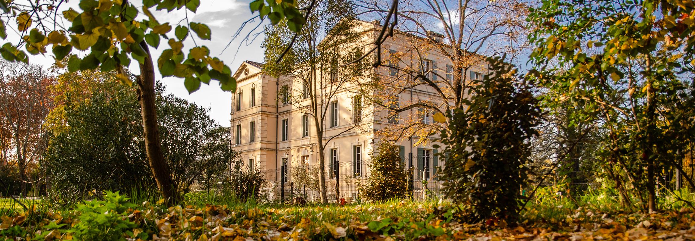 Winter im Château de Montcaud, Provence
